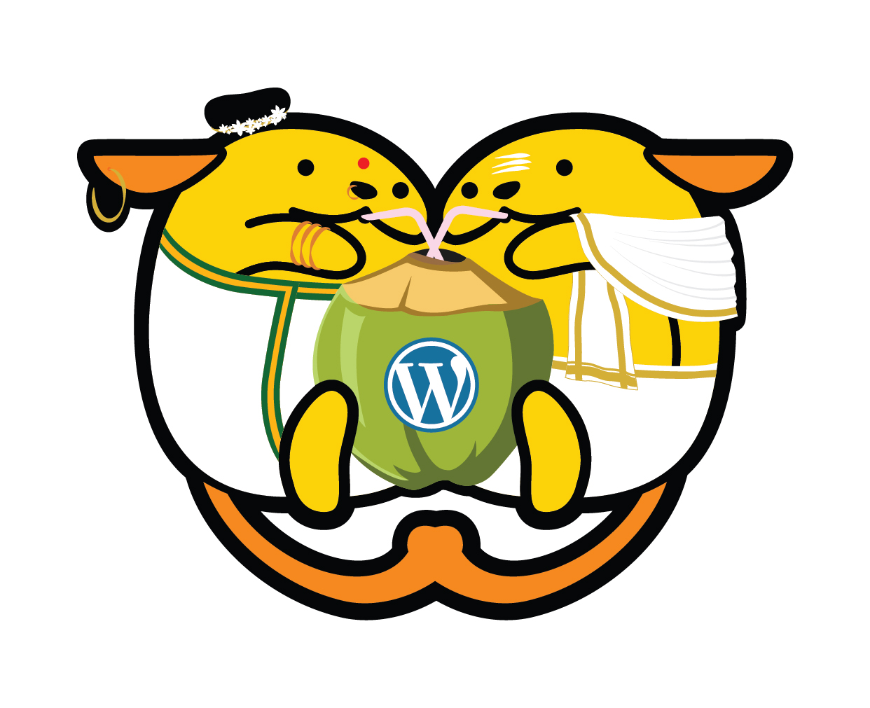 Official Wapuu for WordCamp Kochi - Ammu & Appu.